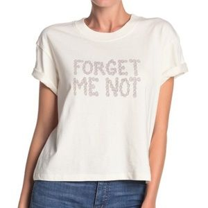 Madewell Forget Me Not Easy Crop Tee - size xs